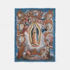 """Virgin of Guadalupe"" fleece blankets"