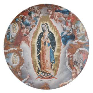 """Virgin of Guadalupe"" melamine plates"