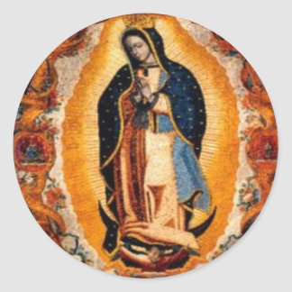 Virgin of Guadalupe Round Sticker