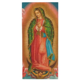 Virgin of Guadalupe USB pendrive Wood USB 2.0 Flash Drive