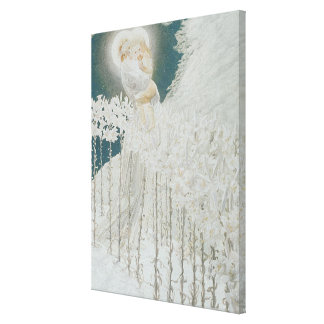 Virgin of the Lilies Canvas Print