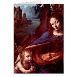 Virgin of the Rocks by Leonardo da Vinci Card