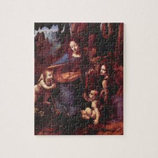 Virgin of the Rocks by Leonardo da Vinci Jigsaw Puzzle