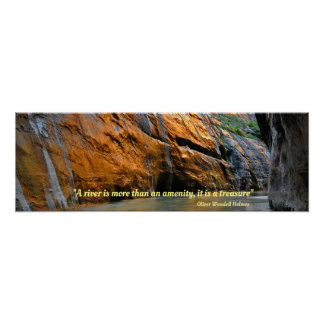 Virgin River Sunrise with Holmes Quote Poster