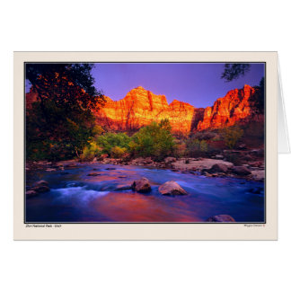 Virgin River - Zion National Park Card