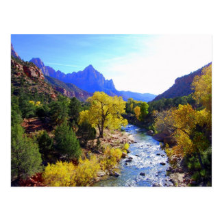 Virgin River, Zion, Utah, Postcard
