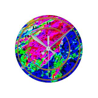 VIRGIN Waves Artistic graphic pattern decorations Round Clock