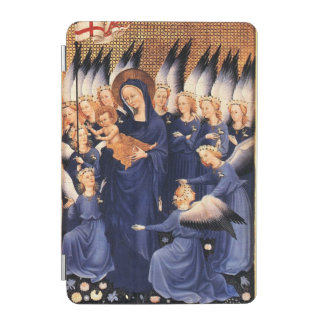 VIRGIN WITH CHILD,ANGELS, CHRISTMAS JOY PEACE LOVE iPad MINI COVER
