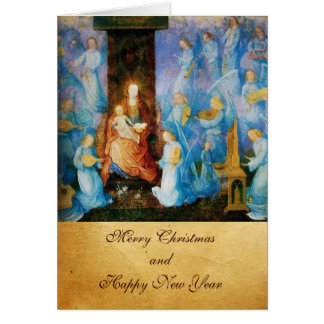 VIRGIN WITH CHILD -CONCERT OF ANGELS,Blue Sapphire Card