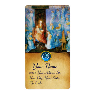 VIRGIN WITH CHILD -CONCERT OF ANGELS MONOGRAM SHIPPING LABEL