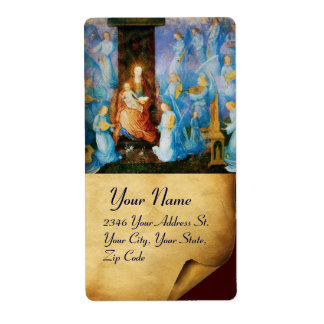 VIRGIN WITH CHILD -CONCERT OF ANGELS  ,Parchment Custom Shipping Labels