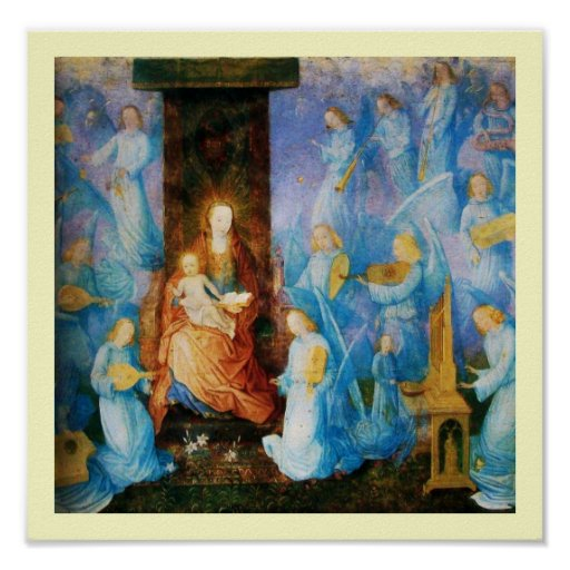 VIRGIN WITH CHILD - CONCERT OF ANGELS POSTER