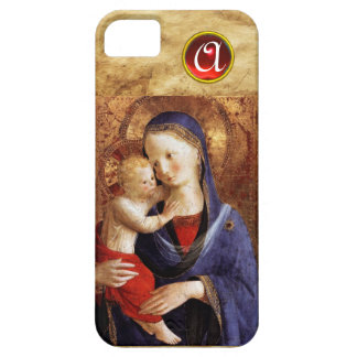 VIRGIN WITH CHILD  Red Ruby Monogram iPhone 5 Cover