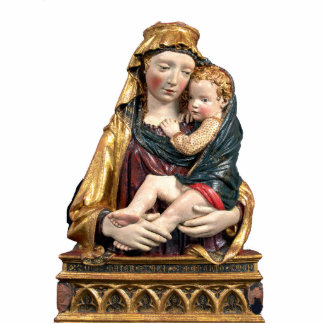 VIRGIN WITH CHILD STANDING PHOTO SCULPTURE