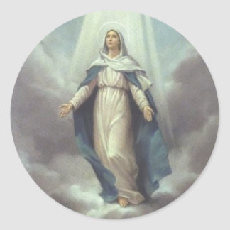 Virgin with the Sky Classic Round Sticker
