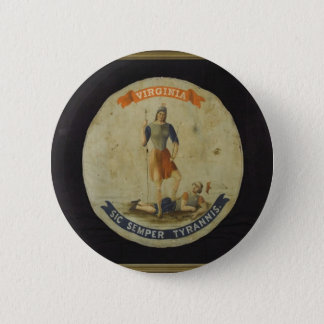 VIRGINIA!!! 2 INCH ROUND BUTTON