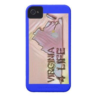 """""""Virginia 4 Life"""" State Map Pride Design Case-Mate iPhone 4 Case"""
