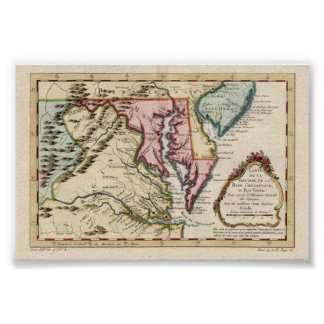 Virginia and the Chesapeake Bay Poster