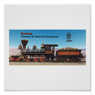 Virginia and Truckee Railroad engine Empire print
