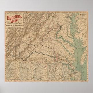 Virginia Battlefields Poster