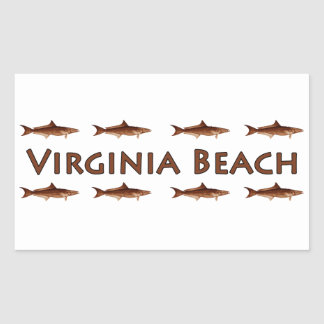 Virginia Beach Cobia Saltwater Fishing Logo Sticker