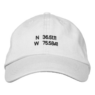 Virginia Beach coordinates ball cap