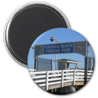 Virginia Beach Fishing Pier Magnet