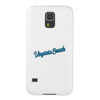 Virginia Beach neon sign in cyan Galaxy S5 Covers