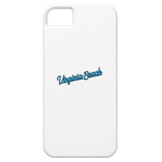 Virginia Beach neon sign in cyan iPhone 5 Covers