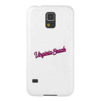 Virginia Beach neon sign in magenta Galaxy S5 Cases