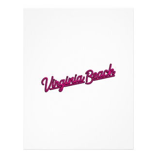 Virginia Beach neon sign in magenta Letterhead