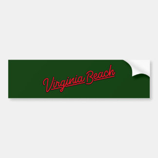Virginia Beach neon sign in red Bumper Sticker