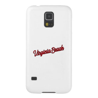Virginia Beach neon sign in red Cases For Galaxy S5