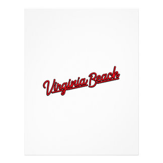 Virginia Beach neon sign in red Letterhead