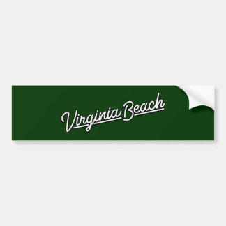 Virginia Beach neon sign in white Bumper Sticker