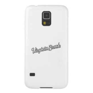 Virginia Beach neon sign in white Galaxy S5 Cases