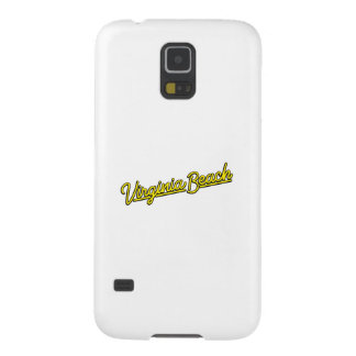 Virginia Beach neon sign in yellow Galaxy S5 Cover