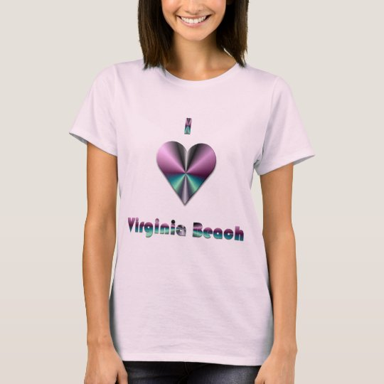 Virginia Beach -- Purple & Turquoise T-Shirt