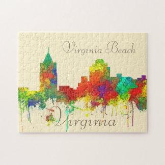 Virginia Beach Viginia Skyline SG Jigsaw Puzzle
