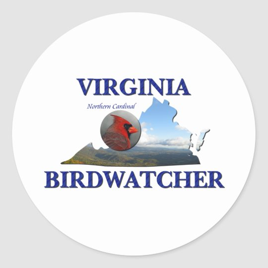 Virginia Birdwatcher Classic Round Sticker
