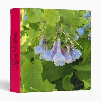 Virginia Blue bells flower 3 Ring Binder