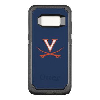 Virginia Cavaliers V Swords | Orange OtterBox Commuter Samsung Galaxy S8 Case
