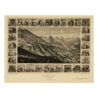Virginia City, NV Panoramic Map - 1861 Poster