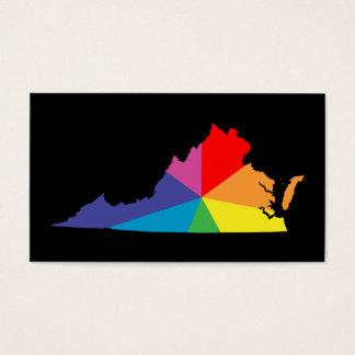 virginia color burst business card