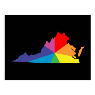 virginia color burst postcard