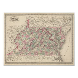 Virginia, Delaware, Maryland, and West Virginia Poster