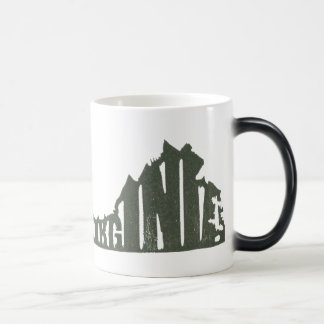 Virginia Digitized from a Senseshaper Woodcut Coffee Mug