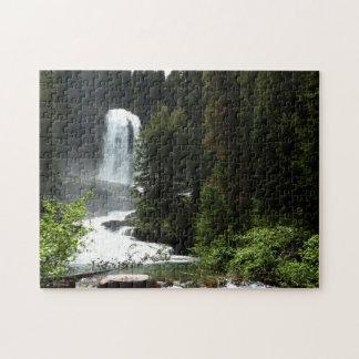 Virginia Falls at Glacier National Park Jigsaw Puzzle