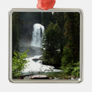 Virginia Falls at Glacier National Park Metal Ornament