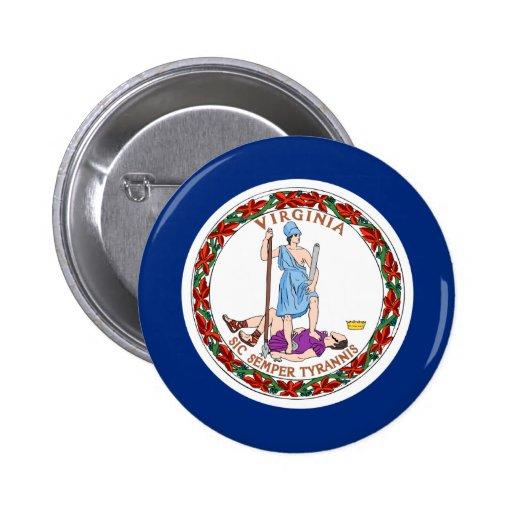 Virginia Flag Pinback Buttons